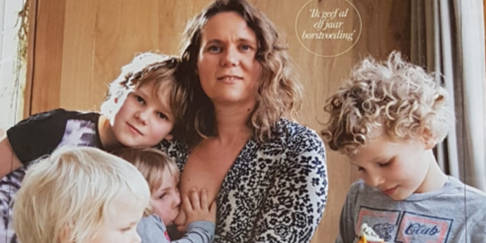 Danielle Willems en haar kinderen