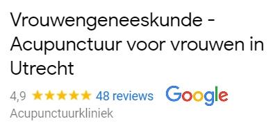 Vrouwengeneeskunde Acupunctuur Utrecht Google reviews